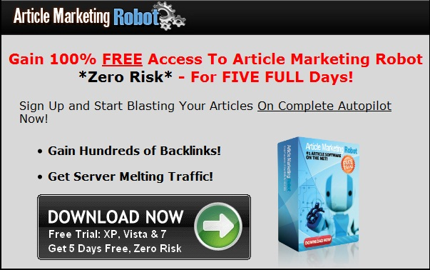 Article Marketing Robot Trial