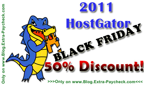 Hostgator 2011 Coupon Black Friday Discount