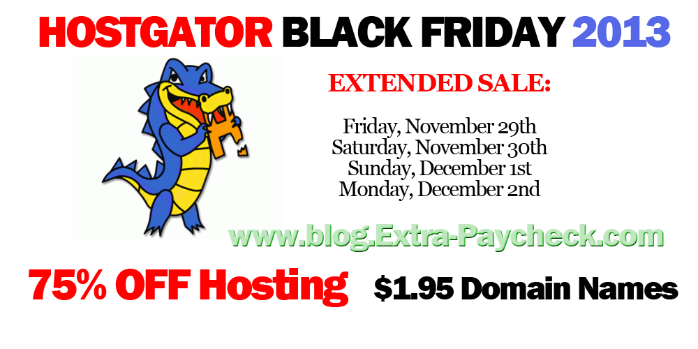 Hostgator 2013 Black Friday Sale