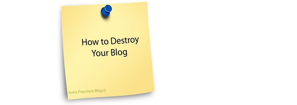 How I ruined my Blog