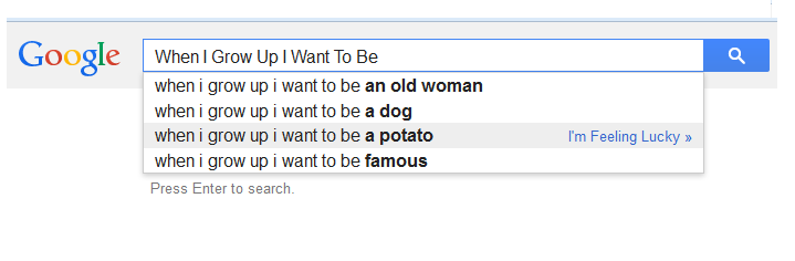When I Grow Up Searches