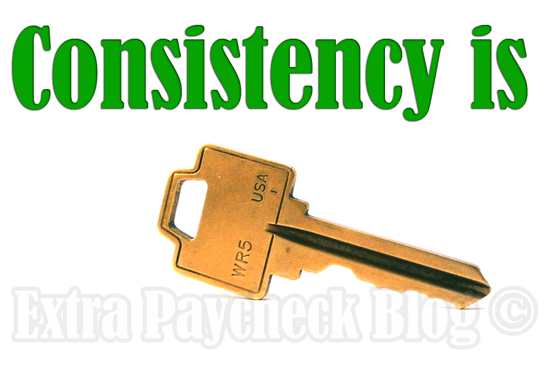 consitency is key to blogging