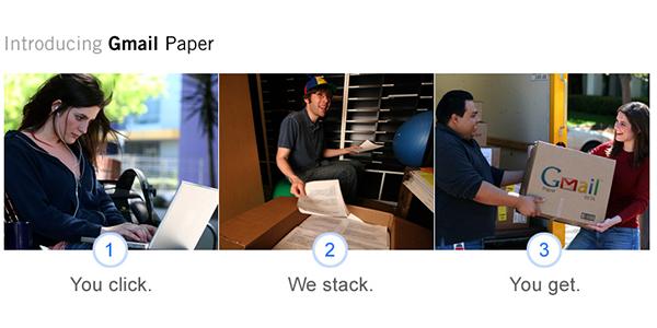 Gmail Paper Joke