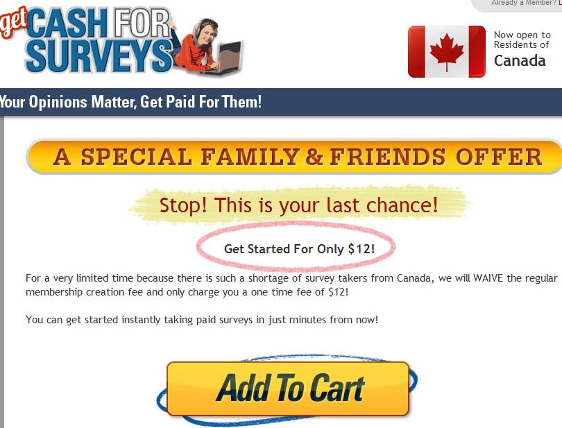 Get Cash for Surveys Scam12