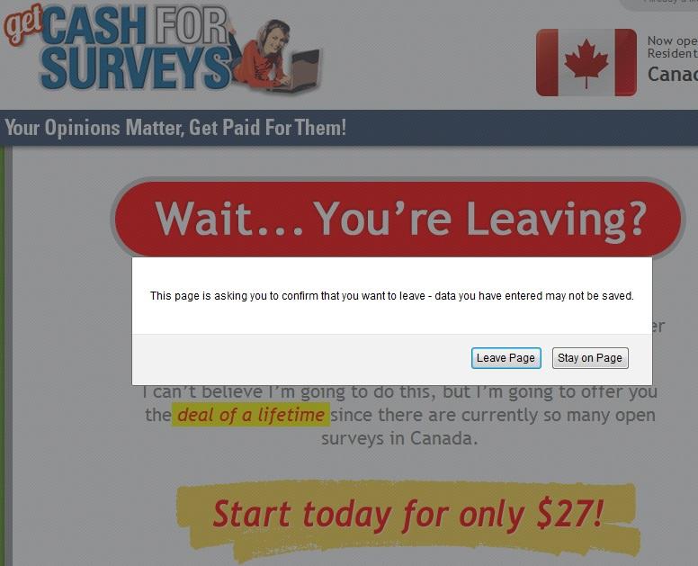 getcashforsurveys scam
