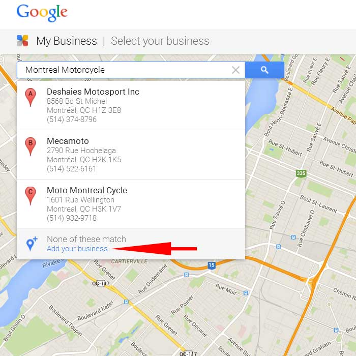 Add business to Google Maps