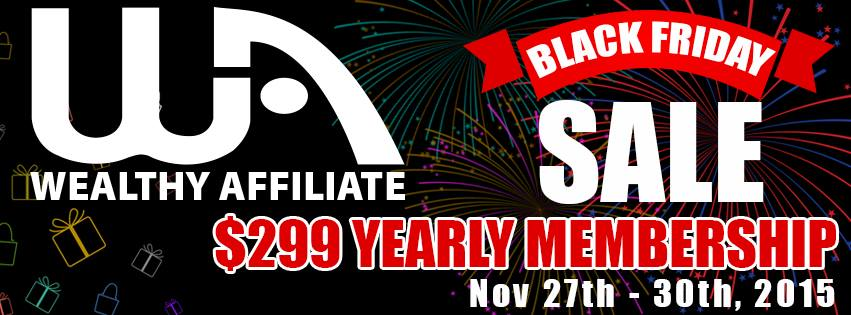 Wealthy Affiliate Black Friday 2015