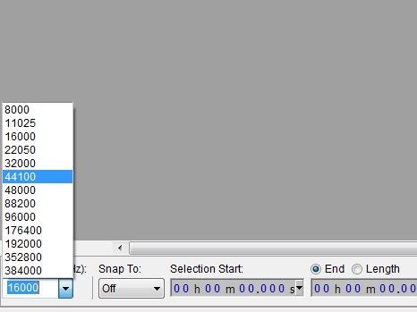 Audacity project rate