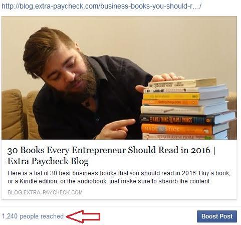 reaching people on facebook