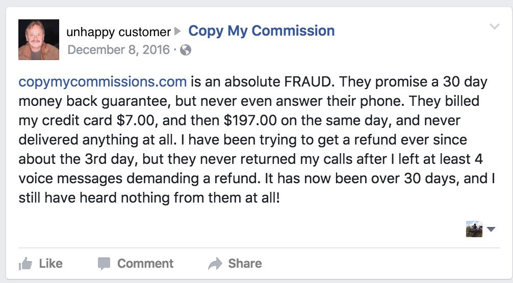copy my commissions complaint