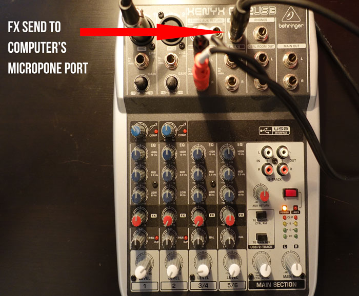 Mixer FX send to microphone