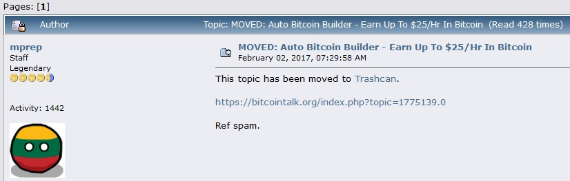 auto bitcoin builder scam