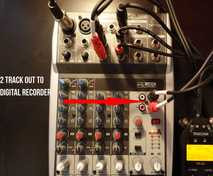 Podcast from mixer to digital recorder