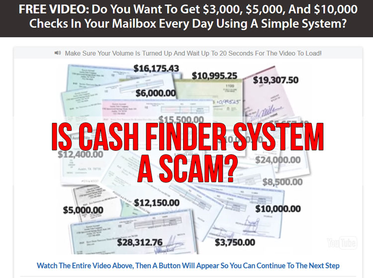 The cash finder system