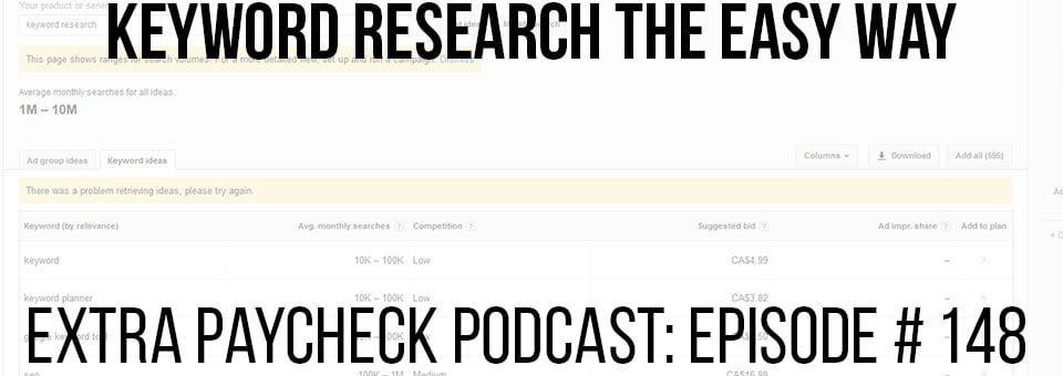 EPP 148: How To Do Keyword Research The Easy Way