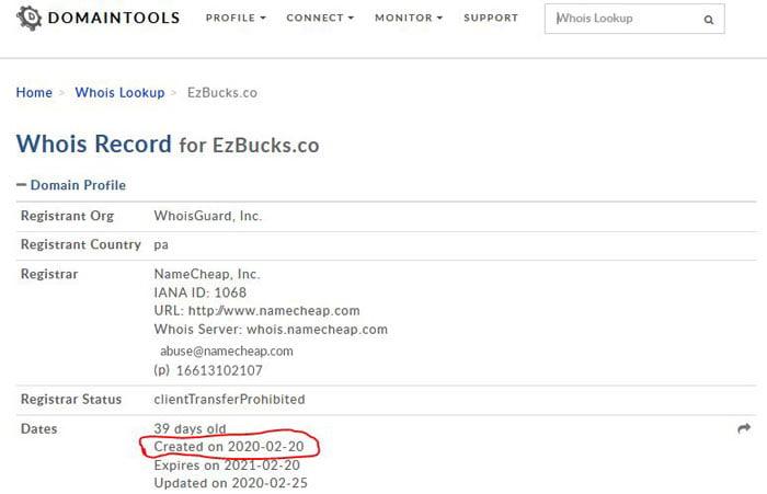 EZ Bucks scam