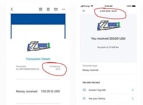 EZBucks fake earnings