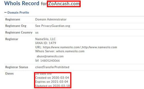 ZoanCash Scam Website