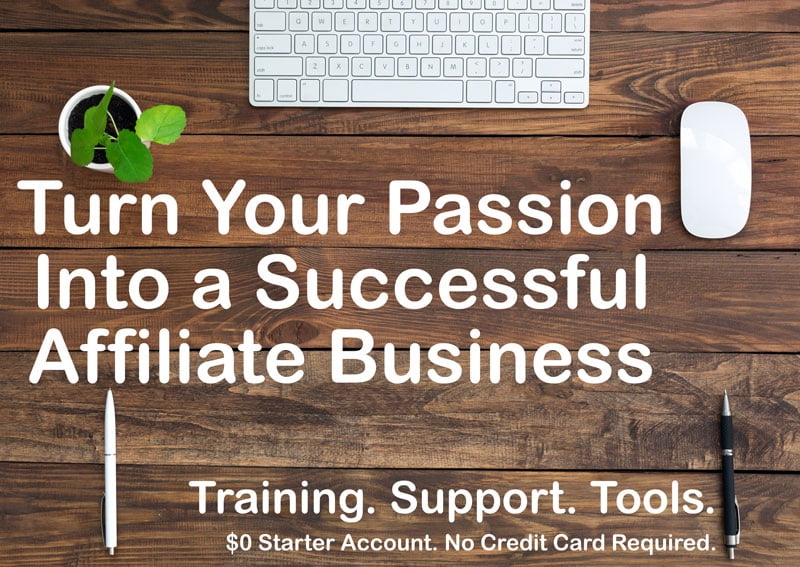Start an affiliate business - work from home