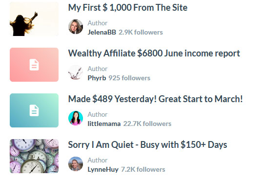 real people making money at wealthy affiliate